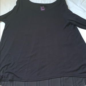 NWT Lane Bryant Black dress shirt.